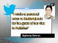 Sushma Swaraj slams Pakistan s Sartaj Aziz over visa for Kulbhushan Jadhav s mother