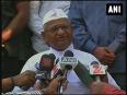Happy with aap s performance anna hazare on delhi polls