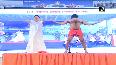 Yoga Day: Baba Ramdev performs yoga in Haridwar