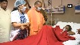 CM Yogi Adityanath visits SN Medical College to meet dust storm affected people