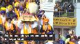 Prakash Purab Devotees participate in nagar kirtan at Golden Temple