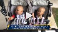 Enrique shares adorable video with his twin babies
