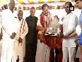Vice-President Naidu receives rousing reception from Telangana Government