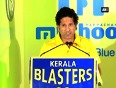 Sachin tendulkar launches anthem and jersey of his indian super league team