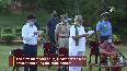 Odisha Governor Ganeshi Lal, CM Patnaik sing Bande Utkala Janani to encourage COVID-19 warriors.mp4