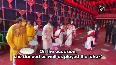 Watch: Nusrat Jahan dances, plays 'dhak' on Durga Ashtami