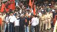 Mumbai Bandh: Protesters block train route at Thane station