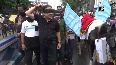 Pegasus report TMC workers take out procession with horse in Kolkata
