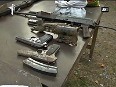 Poonch Arms, Pak made pistols recovered from militant hideout