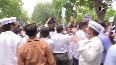 Uttarakhand AAP workers protest against BJP over demeaning comments on Sunderlal Bahuguna