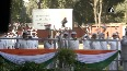 On 136th Congress foundation day, AK Antony unfurl tricolour at party s headquarters.mp4