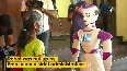COVID-19 Kochi s polling booth equipped with robot to check voters temperature.mp4