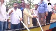 Congress stages protest on boat in Bhubaneswar against waterlogging