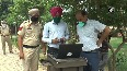 Ludhiana police deploys drone to keep an eye on containment zones.mp4