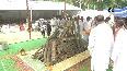 Cremation of former CM Kalyan Singh performed in B'shahr