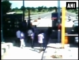 CAUGHT ON CAM: NCP  workers vandalize toll plaza