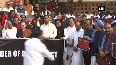 Maharashtra tussle LoP including Sonia Gandhi, Manmohan Singh hold protest in Parliament
