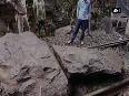 Goods train derails after landslide hit Sivalingapuram
