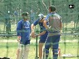 Australian cricket team practices ahead of second test match