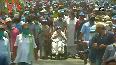 WB polls Mamata Banerjee holds roadshow on wheelchair