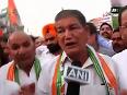 Harish Rawat leads footmarch in Haldwani