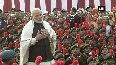 Watch PM Modi interatcts with NCC cadets, NSS volunteers and Tableaux artists