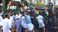 Youth Congress workers hold protest over murder of two congress workers