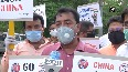 Save Bengal Organisation protests outside Chinese embassy in Delhi.mp4
