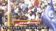Police use water cannon to disperse Congress workers demonstrating over farm bills in Ambala.mp4