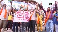 Protest held in Jammu over draping Geelani s body with Pakistani flag