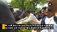 CM Naidu pays tribute at Gandhi statue in Parliament