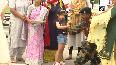 Women, children tie rakhis to BSF jawans posted at Attari border