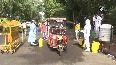COVID-19 Free sanitization organised for vehicles outside LNJP Hospital in Delhi.mp4