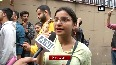 ABVP holds protest outside UGC against JNU fee hike
