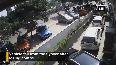 Shocking footage shows speeding car falling off flyover in H'bad