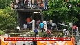 Roof collapses as people gather to witness final rites procession of slain soldier Manish Vishwakarma.mp4