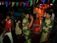 Villagers in tripura celebrate kali puja with security personnel