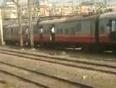 Mumbai local train stunt