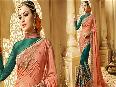 Half-Sarees-Designs-Latest-mix-n-match-style-Designer-Blouse-Embroidered-plain-saree-set-online.