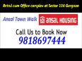 Town-walk Retail&amp Office Space !9818697444! Sec 104 Ansal TownWalk Gurgaon