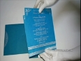 W-4710N,Turquoise Color, Handmade Unique Paper, Sikh Wedding Invitations