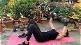 Super hot Khushboo shares her home workout routine