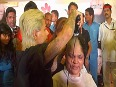 Womens Day Hair Donation56-year-old Oreen Navle donated her hair so that it can be made into a wig for cancer patients at Jaslok Hospital, Mumbai.