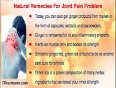 Natural Remedies For Joint Pain Problem