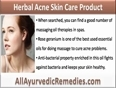Use Herbal Acne Skin Care Product And Get Beautiful Skin And Natural Glow