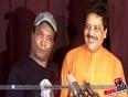 Udit Narayan and Sunil Pal at Song Recording Of Money Back Guarantee