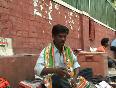 Durga Prasad lives by selling congress memorabilia