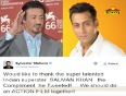 Is Sylvester Stallone hinting on working with Salman Khan?