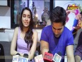 Varun &amp  Shraddha caught while recording a song for ABCD 2!