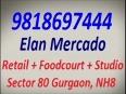 Hi-street retail shops   9818697444   Elan Mercado Gurgaon NH 8